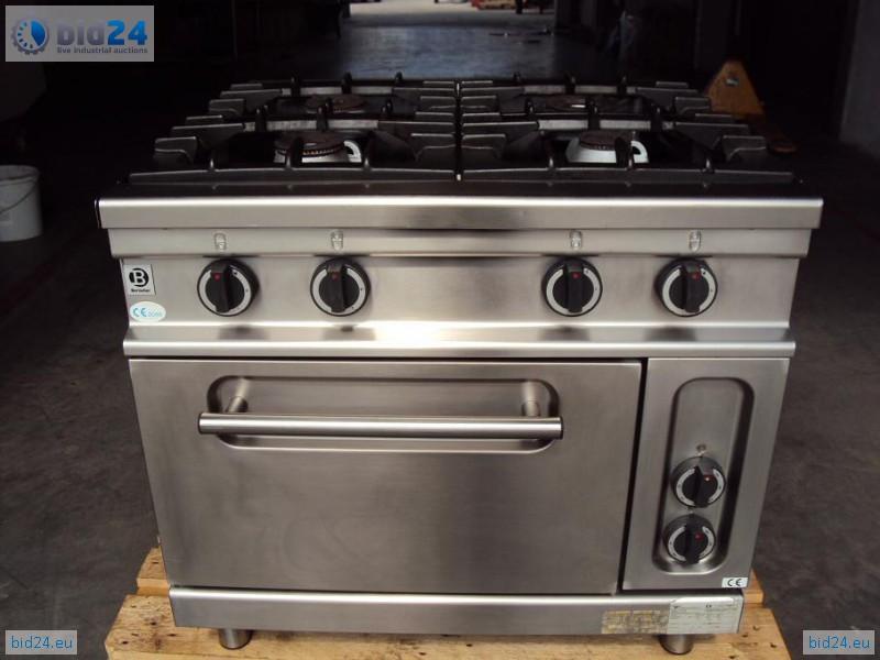 Bid24  Bartsher catering stove with oven 6 6kW # Kuchnia Weglowa Z Piekarnikiem