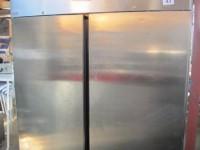 Used stainless steel double door freezer #1
