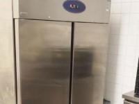 Used stainless steel double door freezer #2