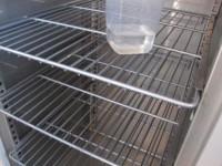 Used stainless steel double door freezer #4
